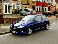 Peugeot 206 GTI, Long MOT, Full Service History, Low Mileage, Cheap 4 Insurance, Good Reliable Car
