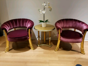 EUC Accent Chairs with Table