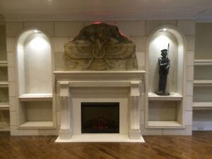 Fireplace  MANTEL ON SALE-BEST FIREPLACE IN RICHMOND HILL-GTA