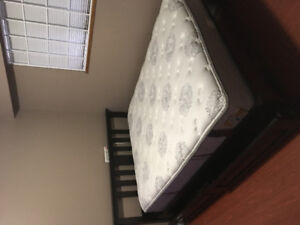 URGENT - Pick up only Queen sized mattress & bed frame for sale