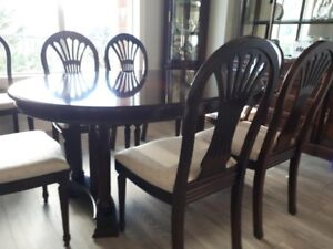 Dining Room table eight chairs, hutch and buffet