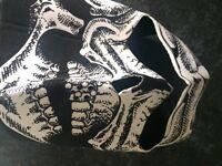 Motorbike mask - skeleton