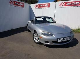 2004 54 MAZDA MX-5 1.8i.FULL S/H.FANTASTIC RUNNER,12 MONTHS MOT,GREAT VALUE .