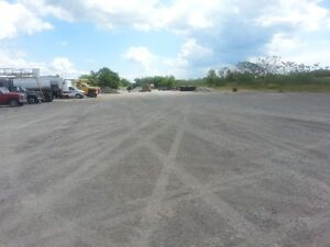trucks,equipment, material storage.large lot and space.