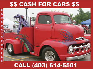 FAST COURTEOUS RELIABLE CAR REMOVAL CALL 403 614 5501
