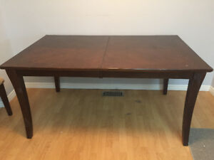 Dining table set for 6