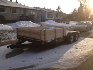 18ft Flat Deck Trailer 5500lbs axels
