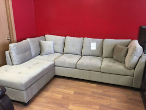 Brand new 2 pc fabric sectional $1098+DO NOT PAY FOR 12 MONTHS!!