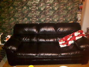Couch...EUC...Faux leather...$700 or BO