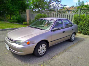 Toyota Corolla 1999 with winter tires