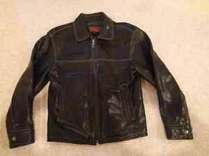 Mens Danier Leather Jacket Size Small