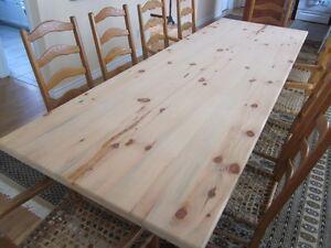 TRADITIONNELLE TABLE/CHAMPETRE 8 CHAISES CAPUCINE EN BABICHE