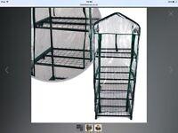 2 plastic greenhouses