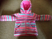 Girls hooded fleece age 18-24 months