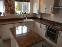 Marble ,granite,Quartz worktops plumbing and tiling