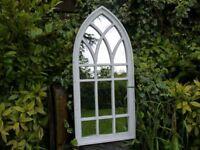 Garden Arch Mirror Distressed Shabby Vintage Style 3049