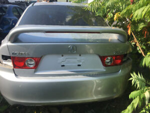 2004 Acura Tsx Silver Trunk Lid hatch With Aftermarket Spoiler