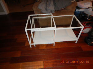 LIKE NEW glass top coffee table and insert