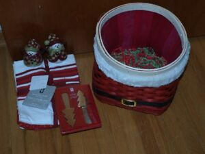 Basket of Christmas items for the kitchen