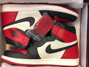 Air Jordan 1 Bred Toes