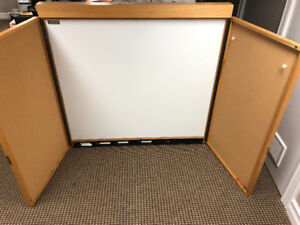Solid Maple Cabinet Dry-White  Board