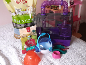 Hamster cage and all the accessories