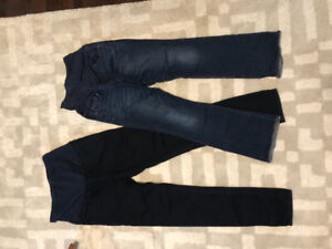 "Maternity jeans 34"" inseam size 10"