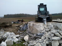 Skid Steer, concrete breaking, concrete pads, preparation work,