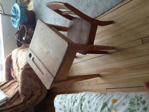 Antique kid's desk and chair
