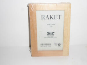 3 PACK IKEA PHOTO FRAMES IN BARE WOOD TO FINISH TO YOUR TASTE