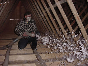 ATTIC INSULATION before the SNOW FLIES