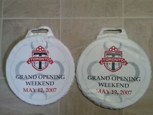 2 x Toronto FC 2007 Opening Weekend Seat Cushions with Blanket