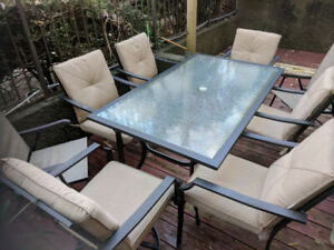Set outdoor Table chairs umbrella
