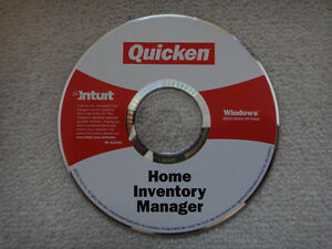 Intuit Quicken Home Inventory Manager software