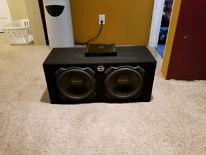"2 10"" kenwood subs and kenwood 500rms"