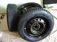 235/6517 Gislaved NordFrost winter tires and rims, like new