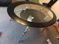 Glass dinnig table with chairs brand new
