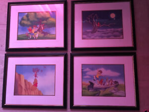 Winnie the Pooh framed art collection