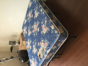 Double Bed mattress and bed frame