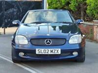 2002 Mercedes-Benz SLK 2.3 Automatic CLASSIC Hard-Top Cabriolet BLUE LEATHER. PX