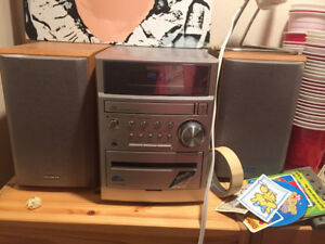 Stereo - radio, tape player and speakers work