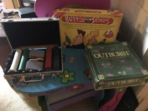 Board games.  Great for the cottage on those rainy day.