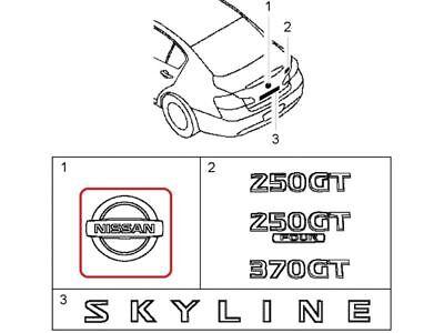 [NEW] JDM Nissan Skyline V36 Emblem Rear Genuine OEM Infiniti G25 G35 G37 Q40 for sale  USA