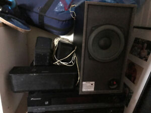 Pioneer Stereo DTS 5.1 Amp, Sub, and Speakers for Sale