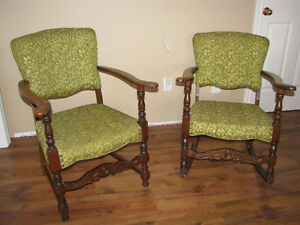 Antique Matching Chair and Rocker