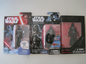 "Star Wars 3.75"" Darth Vader 3 action figures set (BNIB, HTF)"