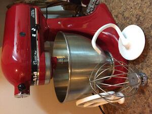 KitchenAid Mixer in Red