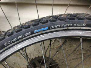 Pair of Schwalbe studded Winter Tires 26 x 1.75 used one season