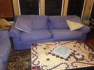 Hidabed, loveseat, chair & ottoman