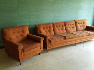 Old Vintage Couch and Chair